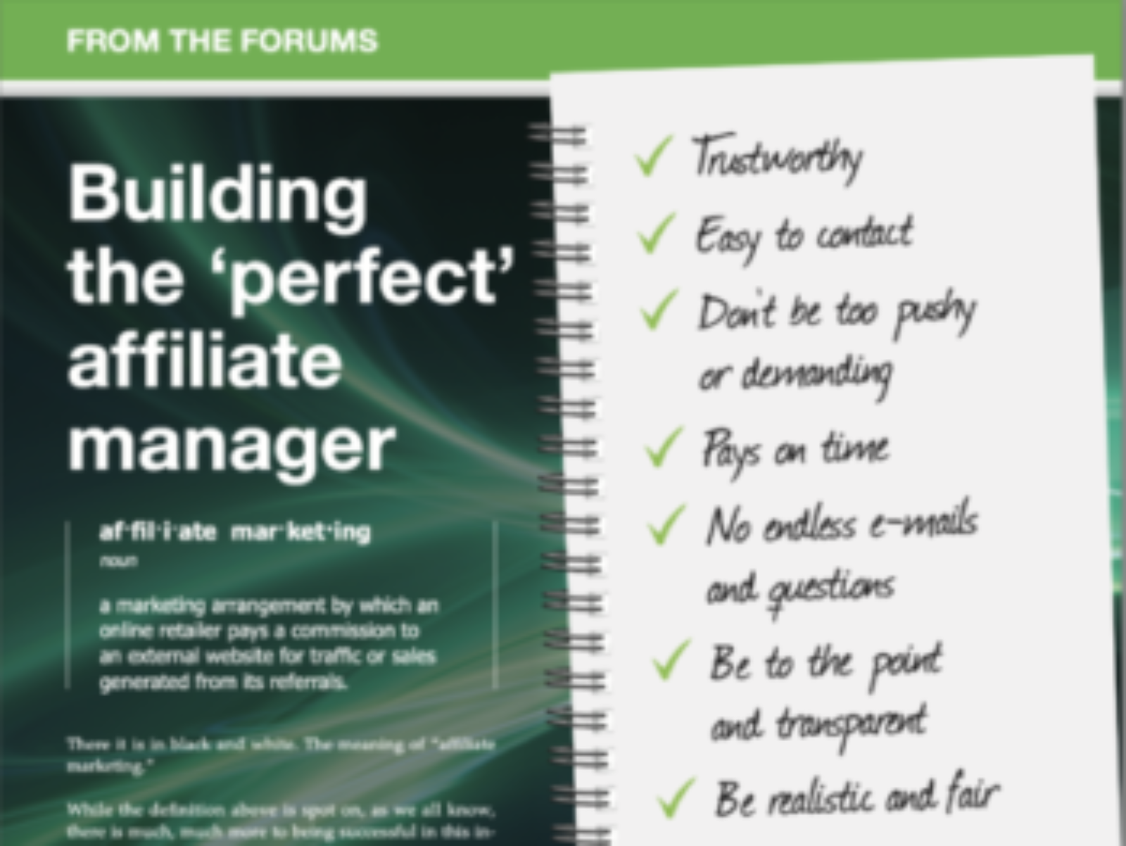 Qualities of a Great Affiliate Manager